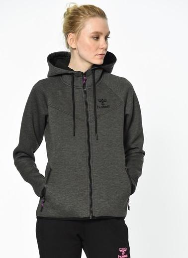 Hummel Kapüşonlu Fermuarlı Polar Sweatshirt Siyah